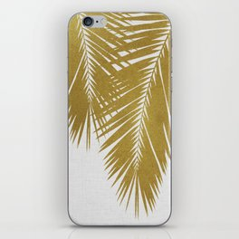 Palm Leaf Gold II iPhone Skin