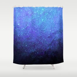 Blue Heavens: Vibrant Starfield Shower Curtain