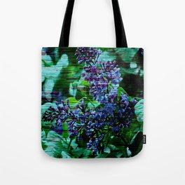 Vintage Textured Painted Lilac Tote Bag