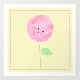 Flower L Art Print