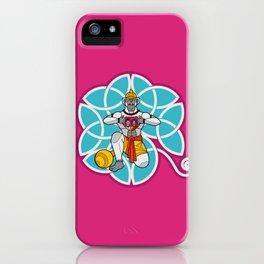 Hanuman's Heart Cyan iPhone Case