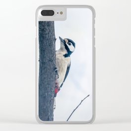 Great spotted woodpecker Clear iPhone Case
