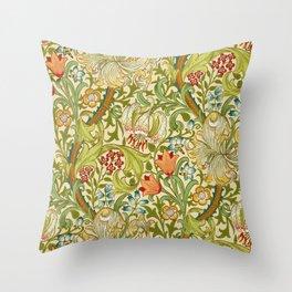 William Morris Golden Lily Vintage Pre-Raphaelite Floral Art Throw Pillow