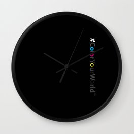#ColorYourWorld Wall Clock