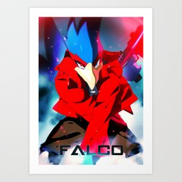 Melee   Falco - Red Art Print