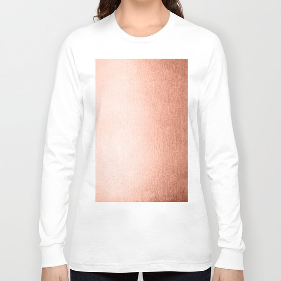 Simply Sweet Peach Coral Shimmer Long Sleeve T-shirt