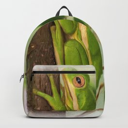 Painted Green Tree Frog Backpack