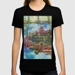 Final Fantasy VI Terra Branford Airship Impressionist Painting T-shirt