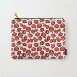 Watercolor Strawberries Carry-All Pouch