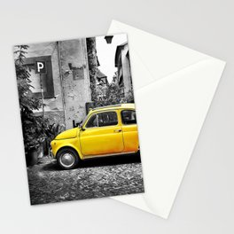 Fiat 500 Yellow Stationery Cards
