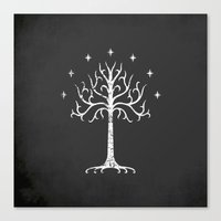 gondor Canvas Prints featuring White Tree of Gondor by Nxolab