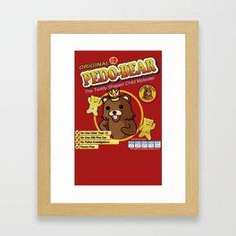Pombear / Pedobear Crisps Framed Art Print