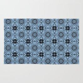 Airy Blue Star Geometric Rug