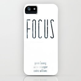 FOCUS comic roll call iPhone Case