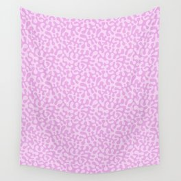 Pink abstract line art  for spring 2021 inspired by Pantone Pirouette pink and Matisse papercuts Wall Tapestry