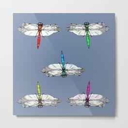 Dragonflies blue Metal Print