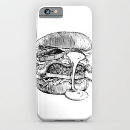 Mac'n ink Burger iPhone Case