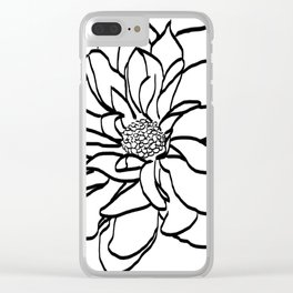 Flower (white) Clear iPhone Case
