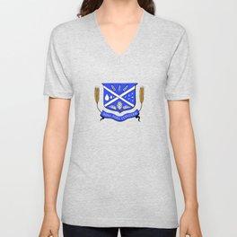 Give Us Beer College Emblem with Latin Script Unisex V-Neck