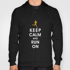 Keep Calm and Run On (female runner) Hoody