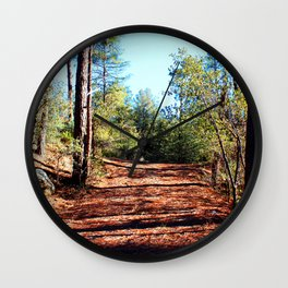 The Parting of Ways in Prescott National Forest Wall Clock
