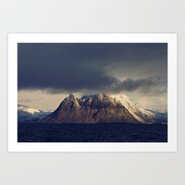 Lofoten Mountain Art Print
