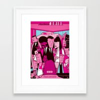 pulp fiction Framed Art Prints featuring Pulp Fiction by Ale Giorgini