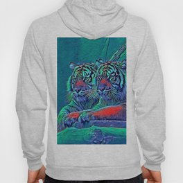 AnimalBlue_Tiger_001_by_JAMColors Hoody