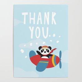 Panda says Thanks! Poster