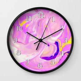 Pink and Purple Swirl Wall Clock