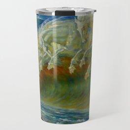 "Walter Crane ""Neptune's Horses, 1893"" Travel Mug"