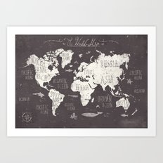 The World Map Art Print