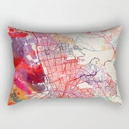 Berkeley map California painting 1 Rectangular Pillow