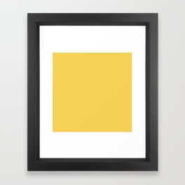 Sunshine Yellow - Solid Color Collection Framed Art Print