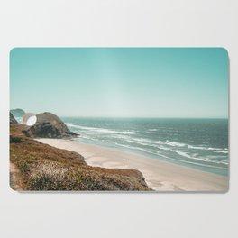 Beach Horizon   Teal Color Sky Ocean Water Waves Coastal Landscape Photograph Cutting Board
