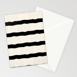 Paper Page Ripped Scan Lines Stationery Cards