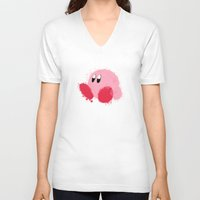 kirby V-neck T-shirts featuring Kirby Splatter ~ ☆ by Kiera Marie