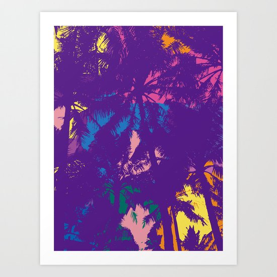 Palm tree_2 Art Print