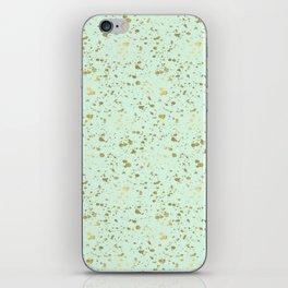 Mint Gold Splatter Abstract iPhone Skin