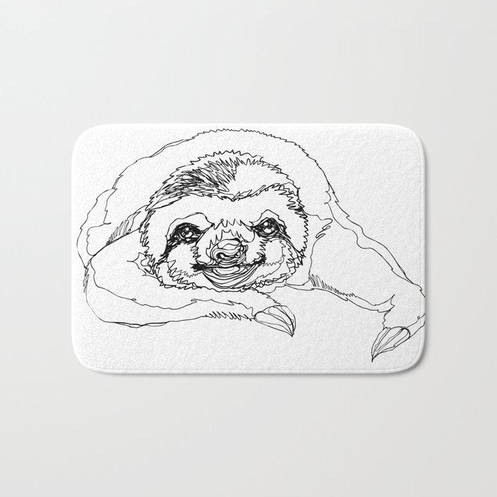 Lazy Slothurday Bath Mat