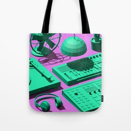 Low Poly Studio Objects 3D Illustration Tote Bag