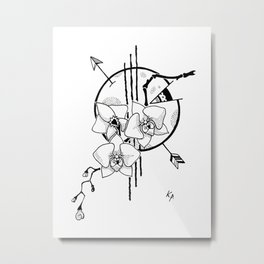 Curious Incident of the Orchid in the Night Metal Print