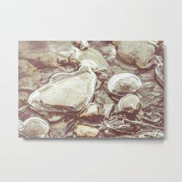 Ice Encased Rocks II Metal Print