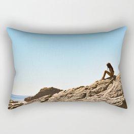 Child at Beach Rectangular Pillow