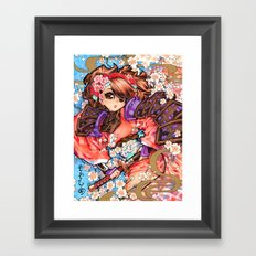 momoiro Framed Art Print