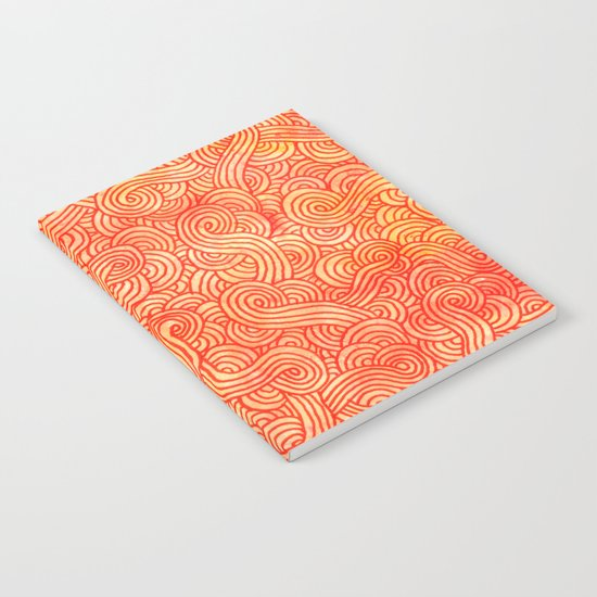 Red and orange swirls doodles Notebook