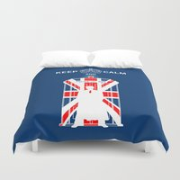 dr who Duvet Covers featuring Dr Who - Union Jack by Chimaera Designs
