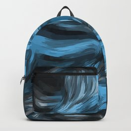 Abstract Blue Ice Backpack
