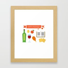Happy Passover Day Framed Art Print