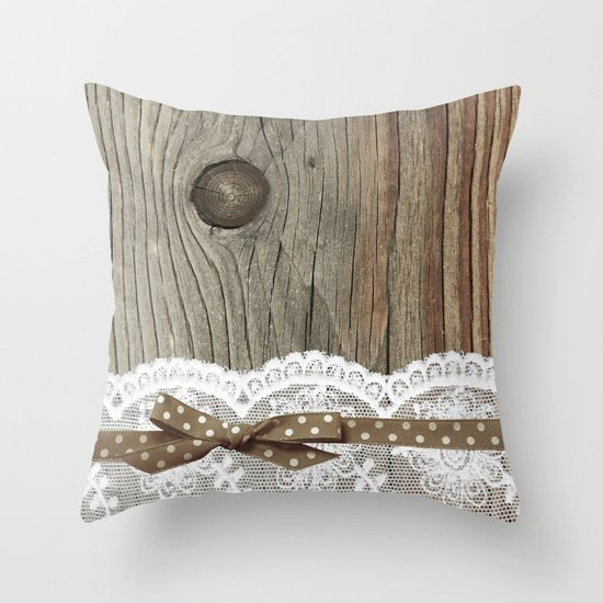 FRENCH LACE Throw Pillow